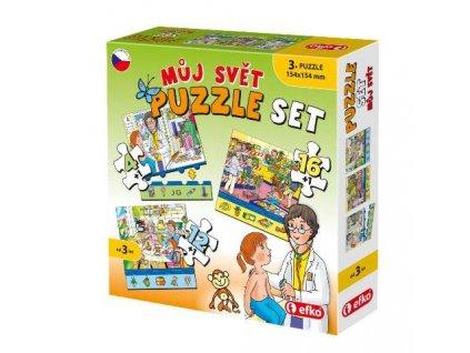 Soubor puzzle 3v1 MŮJ SVĚT, Efko