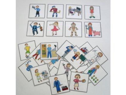 Povolání - obrázkové kartičky