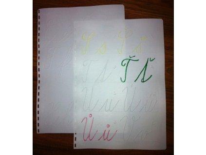 Abeceda psacích písmen