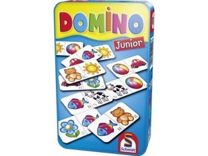 Domino Junior - hra v plechové krabičce