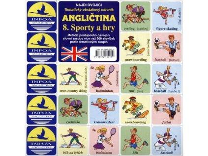 Najdi dvojici - Angličtina - 8. Sporty a hry