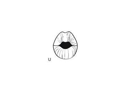 Malé logopedické razítko - U