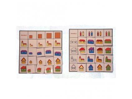 Domečky - třídící tabulky