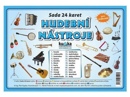 Hudební nástroje - Sada 24 karet, Petr Kupka