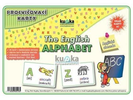 Procvičovací karty - ANGLICKÁ abeceda - (malé, A7), Petr Kupka