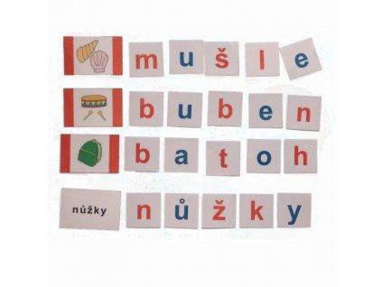 Montessori - Skládání slov 5