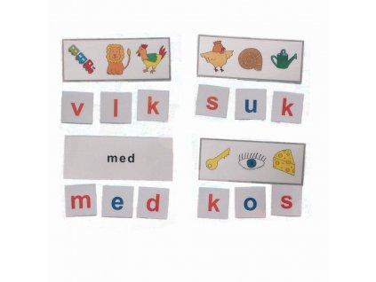 Montessori - Skrytá slova 1