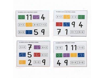 Dominové kostky - počítání - předloha GeoTrio