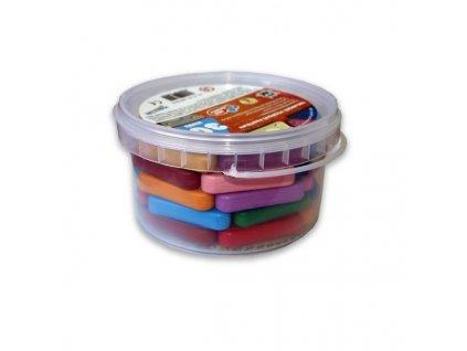 Sada trojboké voskovky 30ks mix barev