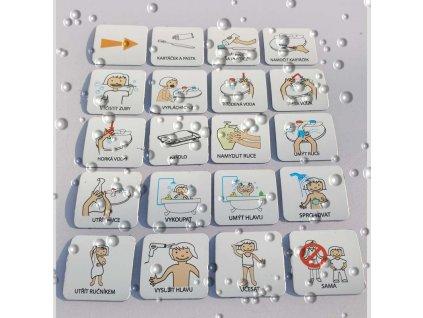 Set 20 ks piktogramů - Hygiena - dívka