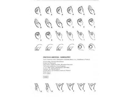 Prstová abeceda - samolepky