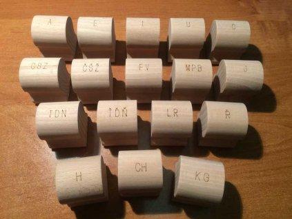 VELKÁ logopedická razítka 17ks s tiskacím polštářkem