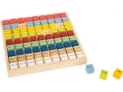 Dřevěná vzdělávácí tabulka násobilka