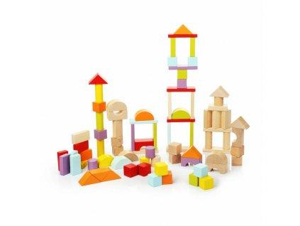 CUBIKA 13821 Stavebnice universal - dřevěná stavebnice 80 dílů