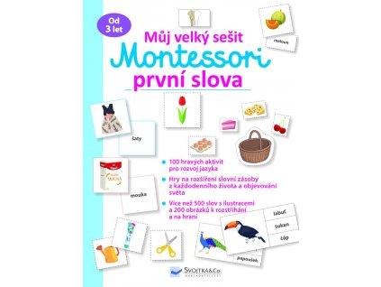Muj velky sesit Montessori Prvni slova