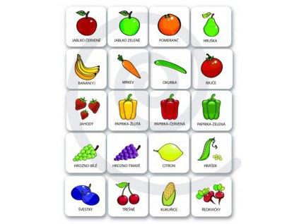 Magneticke piktogramy Ovoce a zelenina