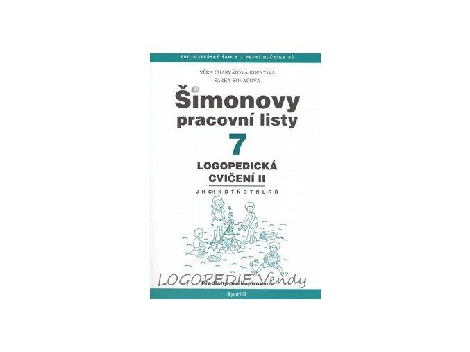 Šimonovy pracovní listy 7   Logopedická cvičení II.