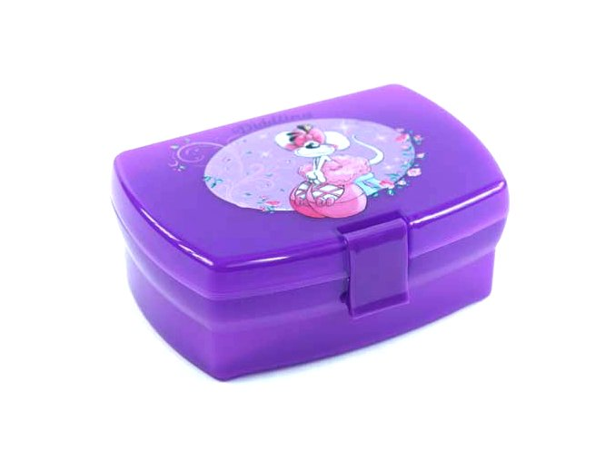 Svačinový box s táckem Diddlina baletka, fialová