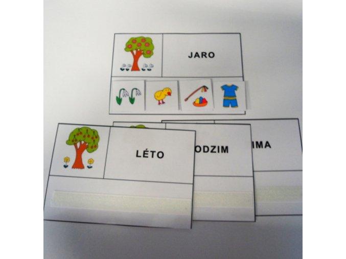 Roční období - strukturované karty