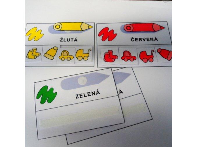 Základní barvy - strukturované karty