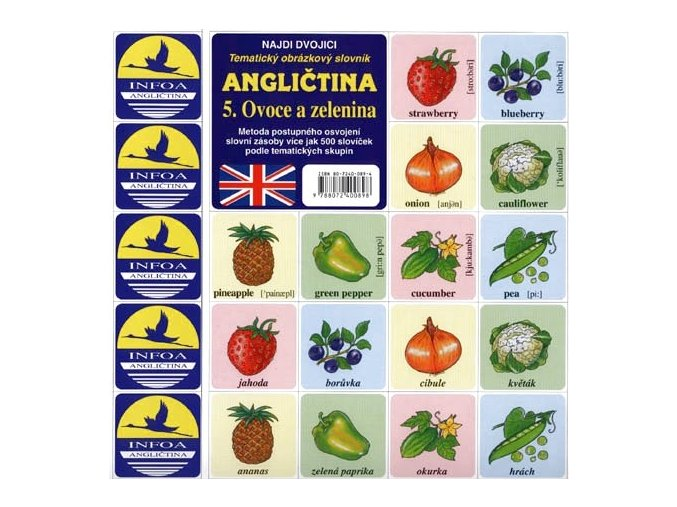 Najdi dvojici - Angličtina - 5. Ovoce a zelenina