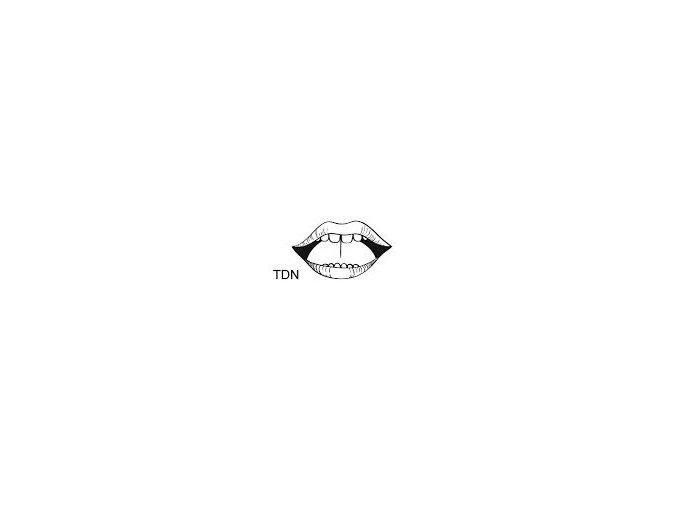 Malé logopedické razítko - TDN