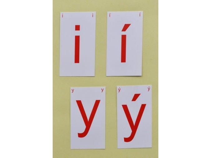 Kartičky s i,í,y,ý - Určeno pro 2., 3., 4. a 5. třídu ZŠ a pro žáky s SPU