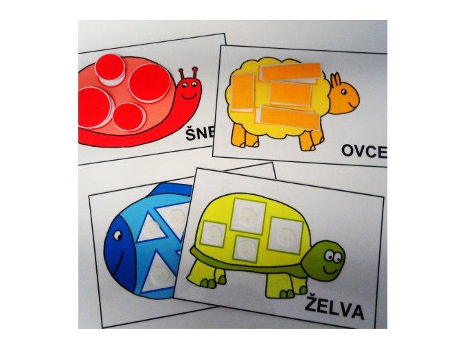 Zvířátka a tvary - strukturované karty