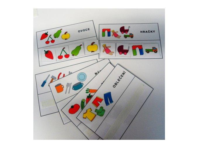 Nadřazená slova - strukturované karty
