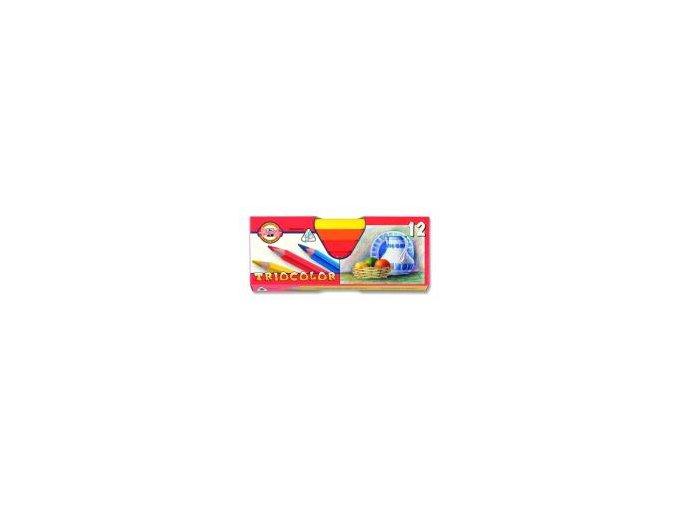 Pastelky 3152/12 trojhranné silné