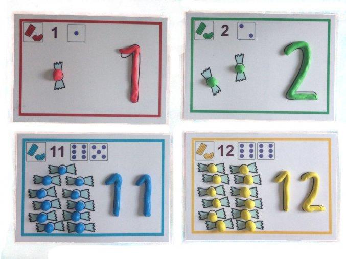 Čísla - předlohy k plastelíně