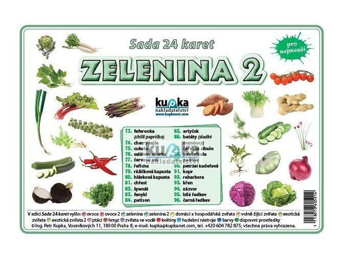 Zelenina 2 - Sada 24 karet, Petr Kupka