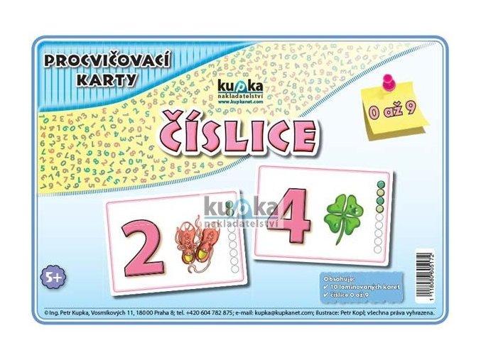Procvičovací karty - číslice - (malé, A7), Petr Kupka