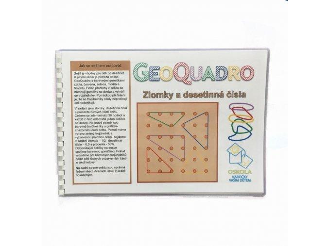Zlomky a desetinná čísla - předloha GeoQuadro