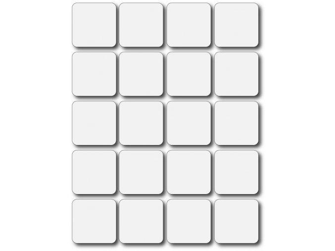 Set 20 ks prázdných magnetek k vlastnímu dotvoření