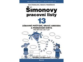 Šimonovy pracovní listy 13  Zábavné počítání, hravá abeceda a poznávání světa pro děti