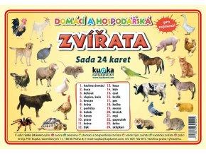 Domácí a hospodářská zvířata - Sada 24 karet, Petr Kupka