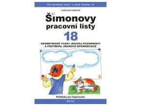 Šimonovy pracovní listy 18 - Geometrické tvary, rozvoj pozornosti