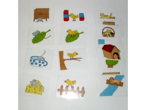 Předložky, logopedické naučné karty