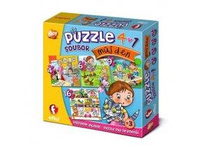 Soubor puzzle 4v1 MŮJ DEN, Efko