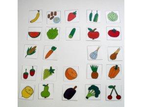 Ovoce a zelenina - mini kartičky