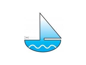 Čtecí záložka s výřezem - lodička