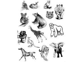 Gelová razítka - Divoká zvířata