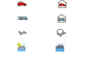 Spojování 3 (domečky doprava) - naučná karta