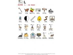 Výslovnost L konec slova - naučná karta