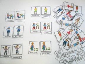 Třísložkové karty - Povolání