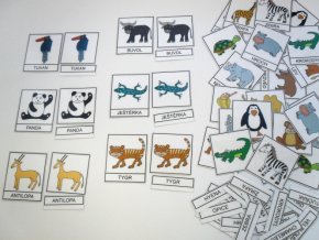 Třísložkové karty - Zvířata 2