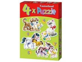 Puzzle sada 4v1 - Domácí zvířátka