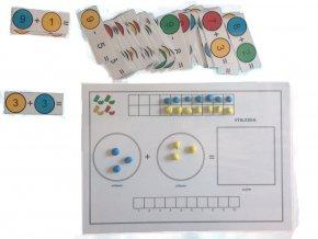 Sčítání a odčítání - předlohy k plastelíně