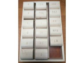 VELKÁ logopedická razítka 17ks s krabičkou
